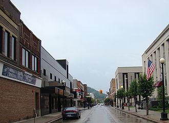 National Register of Historic Places listings in Mingo County, West Virginia - Image: Williamson, West Virginia; view looking down East 2nd Ave