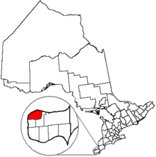 Location of Windsor within Essex County, in the province of Ontario