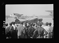 Wings over Palestine-Certificates of Flying School, April 21, 1939. A plane about to take off for a test flight (Lydda Air Port) LOC matpc.18301.jpg