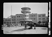 Wings over Palestine-Certificates of Flying School, April 21, 1939. Gen. view of Air Terminal bld'g. (i.e., building) (Lydda Air Port) LOC matpc.18299.jpg