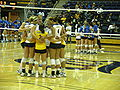 Women's volleyball, SJSU at Cal 2009-09-12 3.JPG