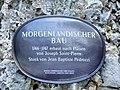 Wonsees, Felsengarten Sanspareil, Morgenländischer Bau, Schild.JPG
