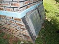 Wooden doors were replaced with steel however not painted black. (7608751024).jpg