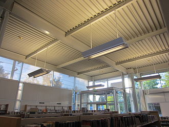 Woodstock Library - The current library has received several awards for quality design, engineering and lighting.
