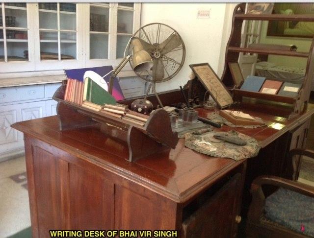 Working Desk of BHAI VIR SINGH