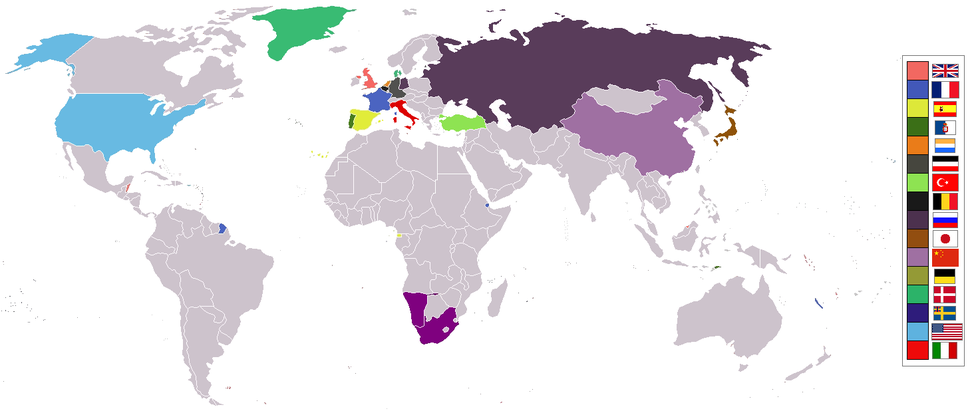 World 1975 empires colonies territory