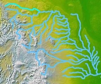Milk River (Alberta–Montana) - Image: Wpdms nasa topo milk river