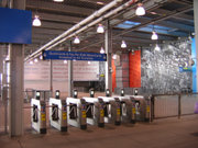 SmartLink turnstiles at the WTC station accept both PATH QuickCards and MTA MetroCards.
