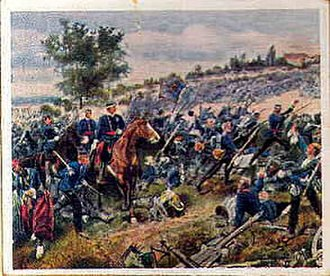 Battle of Wörth - Württemberg troops attack at Wœrth.