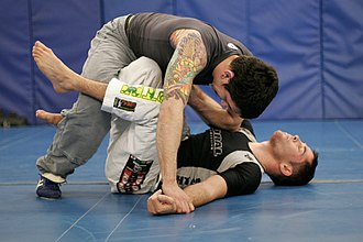 Guard (grappling) - The x-guard being used in BJJ competition
