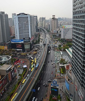 Xiamen BRT - Xiamen BRT near the railway station