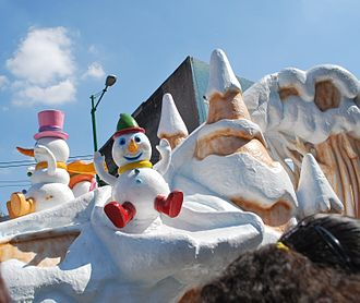 Santa Claus parade - Float at the 2011 Christmas parade in Mexico City.