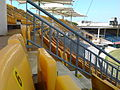 Yellow foldable seats at the M. A. Chidambaram Stadium.jpg