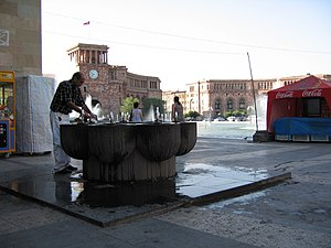 Republic Square, Yerevan - The water fountain