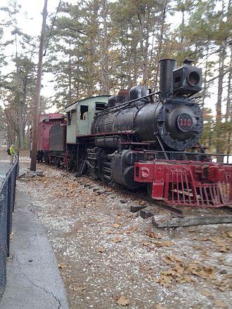 Stone Mountain Scenic Railroad - Stone Mountain Railroad number 110, displayed at Stone Mountain Memorial Depot from 1984 to 2013.