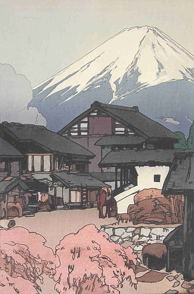 「富士拾景 船津」 1928年(昭和3年)
