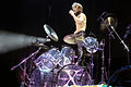Yoshiki with drum kit 2011.jpg