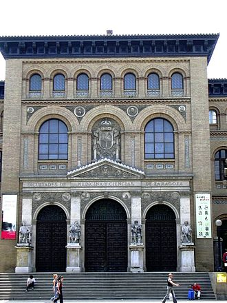 University of Zaragoza - The building of the Ancient Faculty of Medicine and Sciences in Zaragoza, now called Paraninfo.