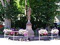 Zell a.H., Brunnen mit Muttergottes vor der Wallfahrtskirche 1.jpg