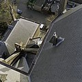 Zicht vanuit de vieringtoren- Dakconstructie, goten en dakkapel - Gouda - 20372111 - RCE.jpg