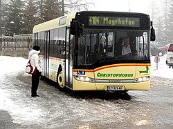 Solaris Urbino 12 na trasie Ski-Busa w dolinie Zillertal w Austrii