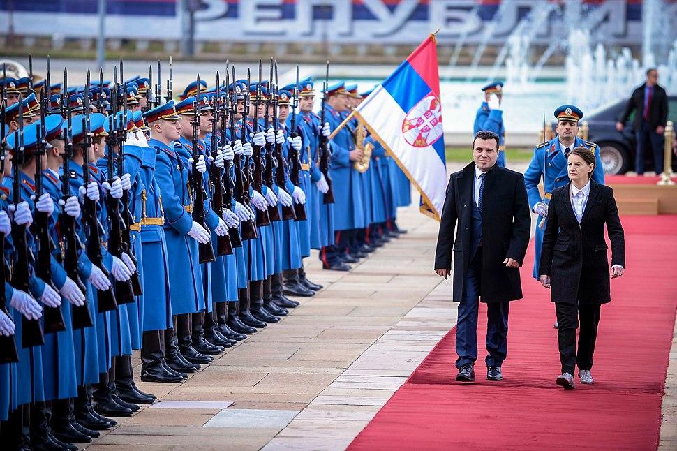 Zoran Zaev & Ana Brnabić (official visit to Serbia, 21.11.2017)