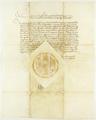 Zygmunt II August król polski zezwala na pobieranie przez władze miasta Poznania opłat mostowego i groblowego..png