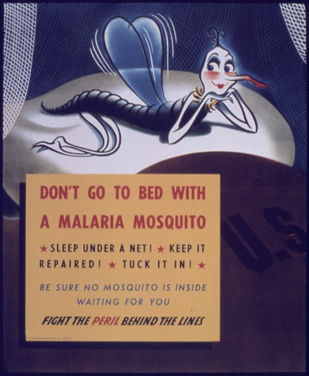 "World War II poster ""Don't go to Bed with Malaria Mosquito"" - NARA - 514146.tif"