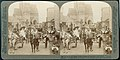 """In the Irish Village - pretty lassies in jaunting cars before 'Cormac Chapel' - World's Fair, St. Louis, U.S.A."" (Louisiana Purchase Exposition). U and U 42.jpg"