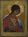 """St.Archangel Michael"" egg tempera, gold leaf on wood, sm 32x24.jpg"