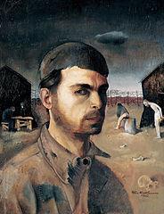 Self-Portrait in the Camp