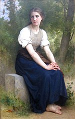 'The Song of the Nightingale' by William-Adolphe Bouguereau, Dayton Art Institute.JPG