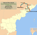 (Visakhapatnam - Kirandul) Passenger train route map.png