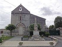 Église Notre-Dame-de-l'Assomption de Poursay-Garnaud, extérieur. PA00104853.JPG
