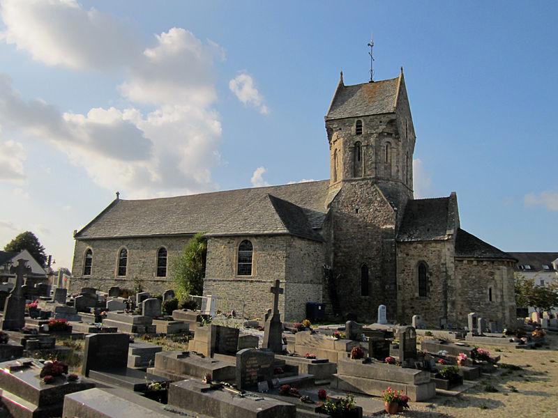 Église Saint-Martin, Cherbourg-Octeville, Manche XIIe, style roman