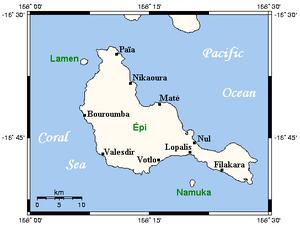 Epi (island) - Map of Epi