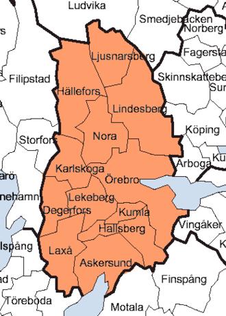 Örebro County - Image: Örebro County