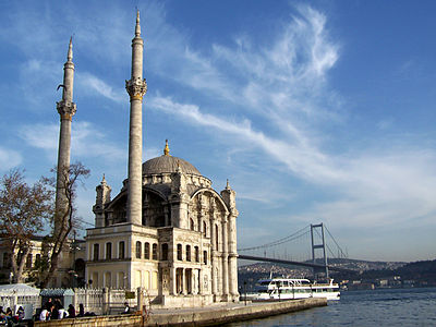 Ortaköy Mosque along the Bosphorus