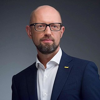 Arseniy Yatsenyuk Ukrainian Politician, economist, and lawyer