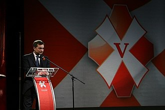 Nashi (youth movement) - Vladislav Surkov giving a speech during the Fifth Congress of the Nashi Youth Movement