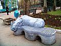 Зоопарк, скамейка Носорог - panoramio.jpg