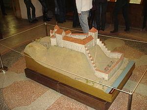 Dinaburga Castle - Image: Макет Динабургского замка
