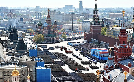 Картинки по запросу At top — Uran-9. Above — the 2015 Victory Day parade in Moscow. Photos via Wikipedia