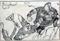 Пуришкевич, Бобринский и Савенко отправляются в поход (карикатура, 1913).png