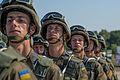 Тренування Нацгвадійців до параду військ з нагоди 25-ї річниці незалежності України IMG 0547 (28754392960).jpg