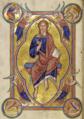 Христос во славе. Миниатюра из Абердинского бестиария.png