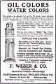 """OIL COLORS WATER COLORS"" ""F. WEBER & CO. 1125 Chestnut Street, Philadelphia, PA."" September 1915 ad - The International studio (IA internationalst5622unse 0) (page 14 crop).jpg"
