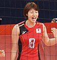 狩野舞子 - Japan women's national volleyball team at the 2012 Summer Olympics (7913940138) (cropped).jpg