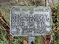 -2018-11-15 Plaque below the George V Silver Jubilee Tree, Churchyard, Saint Mary's, Antingham.JPG
