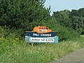 -2019-07-17 Lifeboat day sign, Overstrand Road, Cromer.JPG